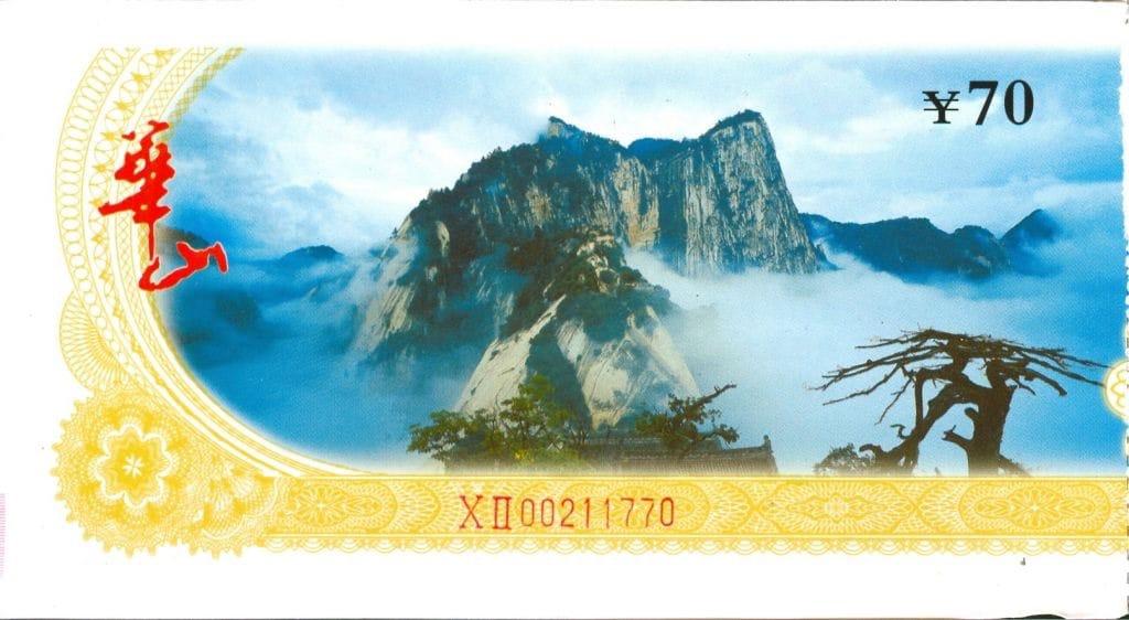 Hua Shan entree ticket