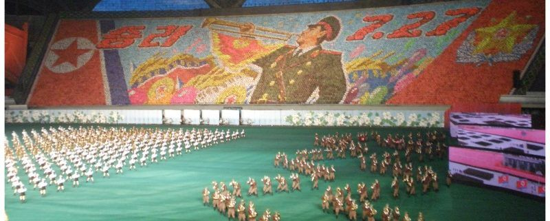 Arirang mass games in Pyongyang. Adembenemend!