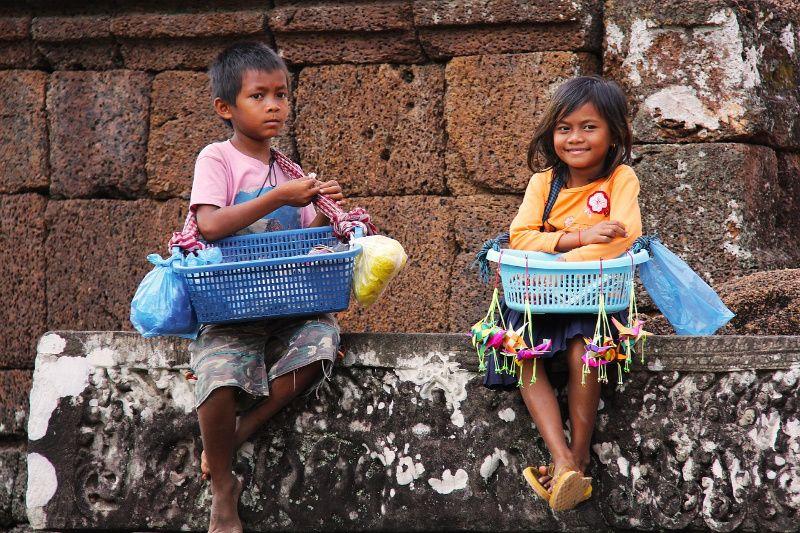Local kids Cambodja