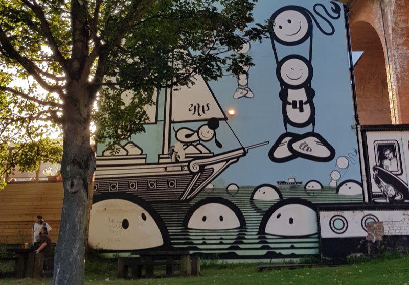 Verenigd Koninkrijk Noord Engeland Newcastle Ouseburn street art