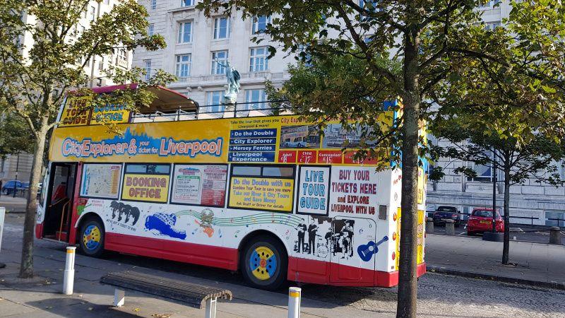 Cityexplorer hop on hop off bus ticket verkoop Liverpool