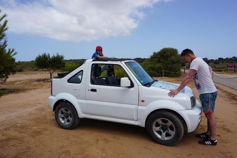 Formentera met kinderen auto huren Spanje
