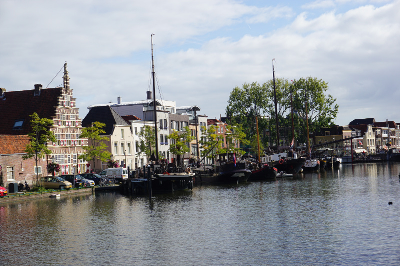 Leiden vanaf het water timmermanswerf