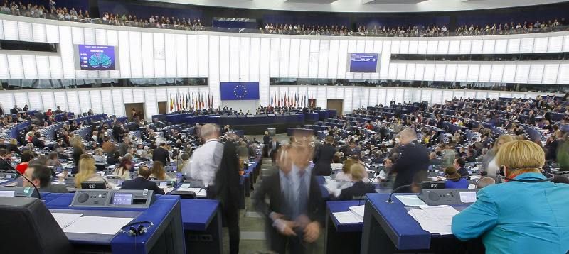 Parlamentarium_eCard Grote Zaal Europees Parlement