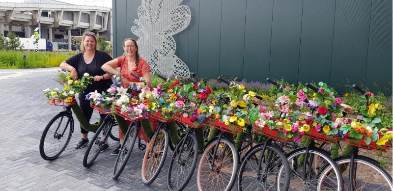 Floriworld Aalsmeer Nederland fietsen
