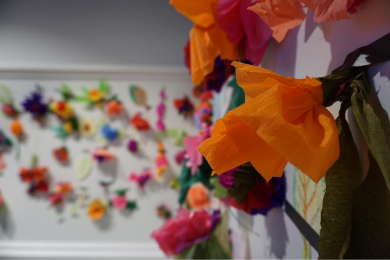 crêpepapier bloemen