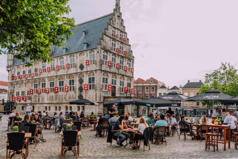 Markt Gouda terrassen