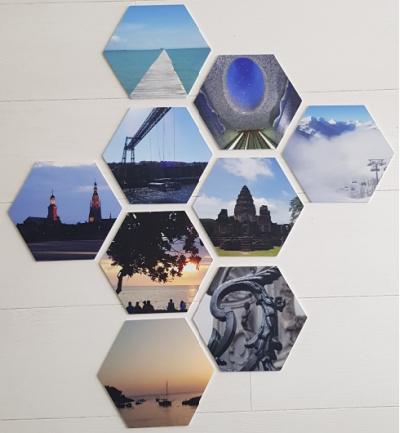 Foto cadeau hexagon foto herinneringen