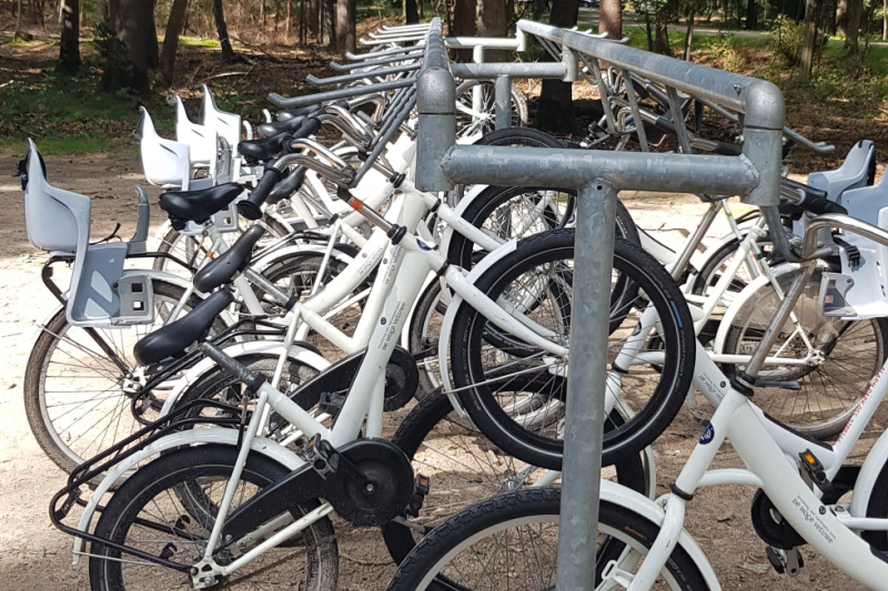 witte fietsen Nationaal Park de Hoge Veluwe