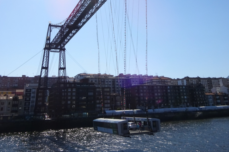 Vizcaya brug Bilbao Spanje