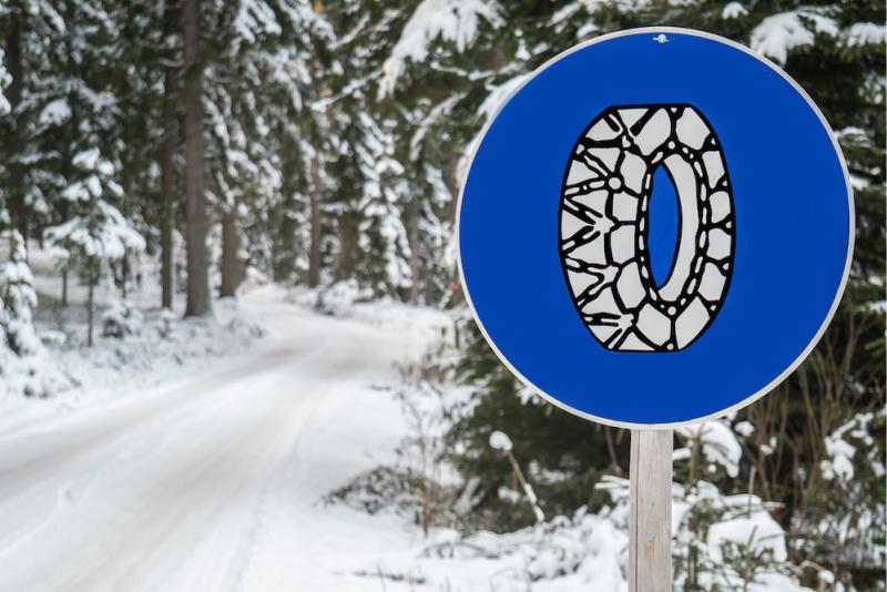 Blunders tijdens de wintersport sneeuwkettingen vergeten