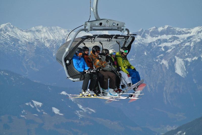 Blunders tijdens de wintersport skilift