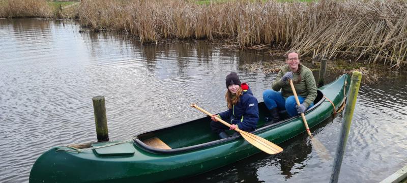 kanoën op de Vecht