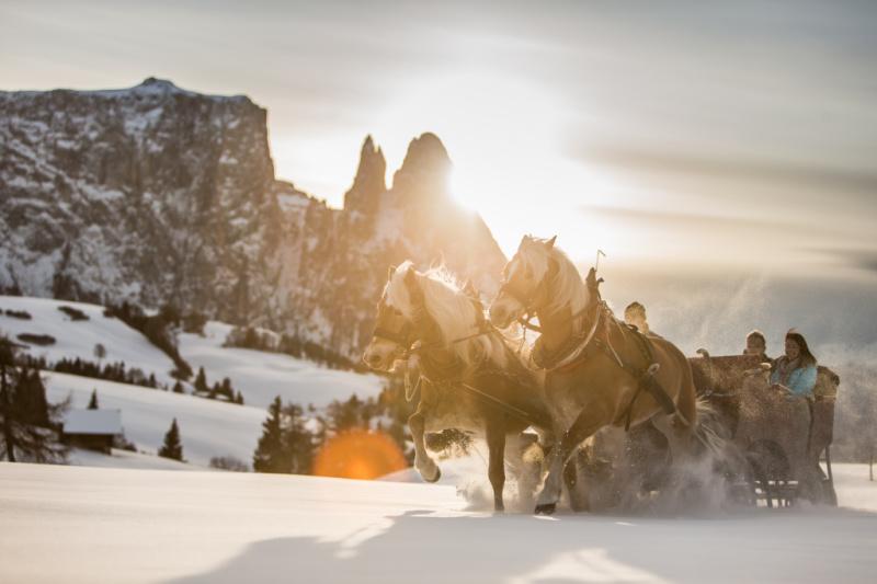 Wintersport Italië Dolomieten Almromantik Seiser Alm