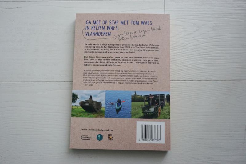 achterflap boek Reizen Waes Vlaanderen Belgie