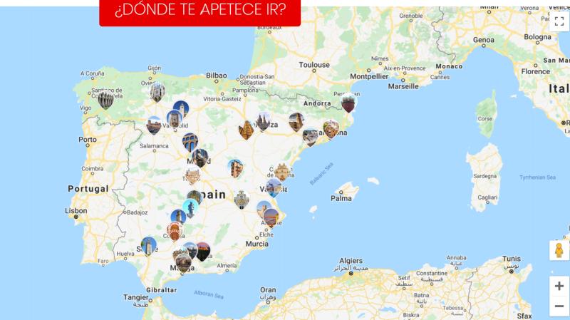 AVE routekaart Spanje