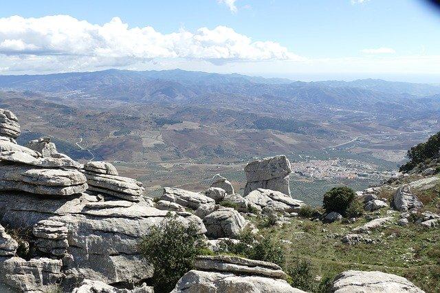 Spanje Rots Rotsformatie El-Torcal-De-Antequera Andalusië