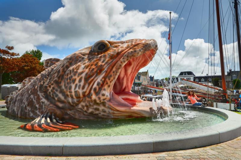 Nederland visfontein Stavoren