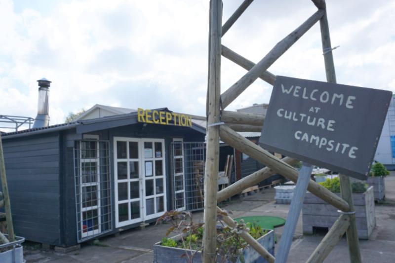 Nederland Rotterdam Culture Campsite receptie