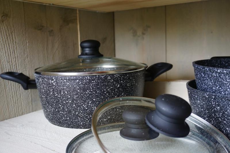 Keuken en keukengerei Petit013 minicamping Tilburg