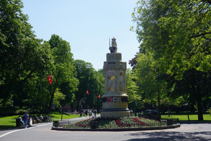 Oranje-Nassaupad Baronie monument Valkenberg Breda