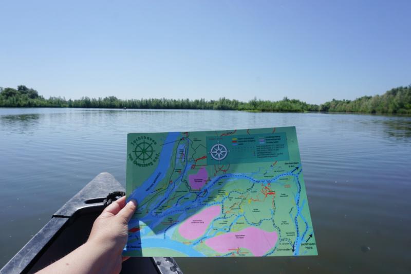 vaarroute kaart Nationaal Park de Biesbosch Brabant Nederland