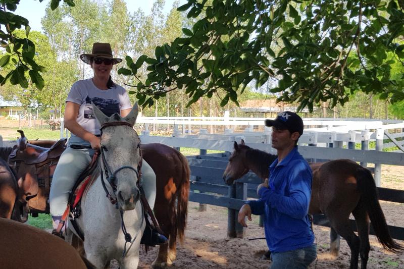 paardrijden in de Pantanal Brazilië