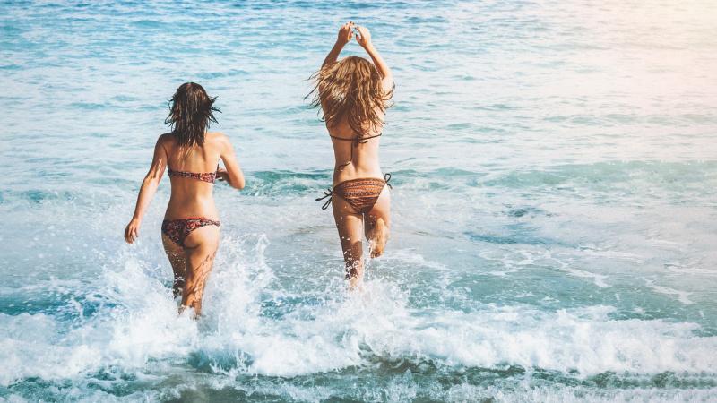 ontspannen vakantie bikini