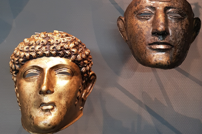 Romeinen maskers Museum Oudheden Leiden