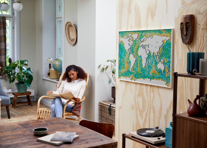 LEGO® Art Wereldkaart – Die wil je zeker aan je muur hebben