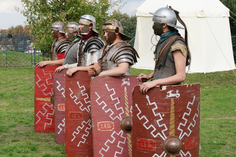 Romeinse soldaten reenactment