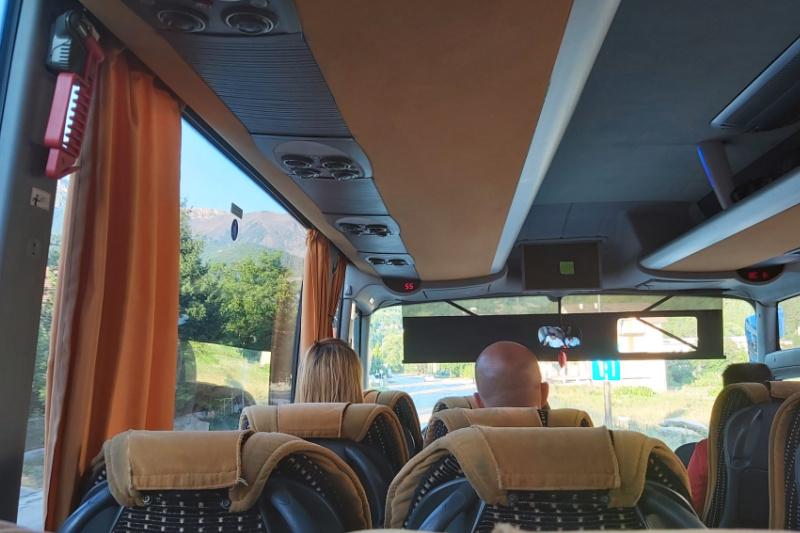 Bus uitzicht Bosnie