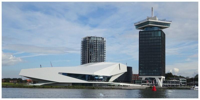 Amsterdam-Noord vanaf het water