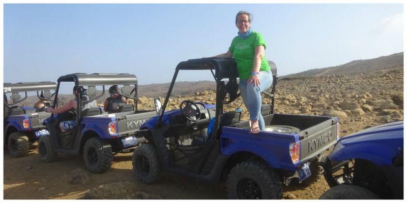 Aruba Nationaal park Arikok Eva buggy