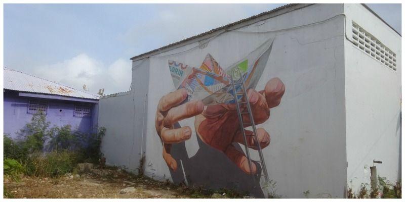 Aruba street art in San Nicolas