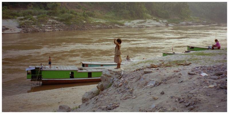 Azië Laos Slow boat