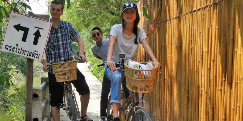 Bang Krachao Bamboo bikes Bangkok Thailand Family Tour