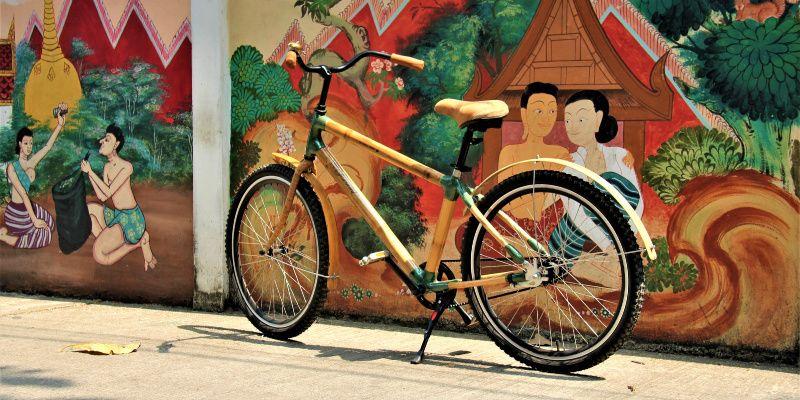 Bang Kachao Bamboo bikes Bangkok Thailand fiets