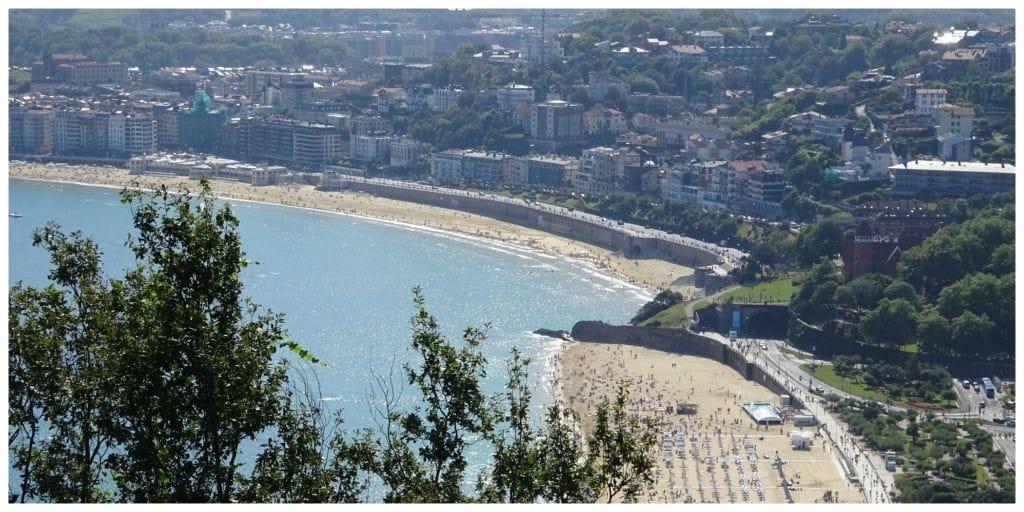 strand en stedentrip San Sebastian
