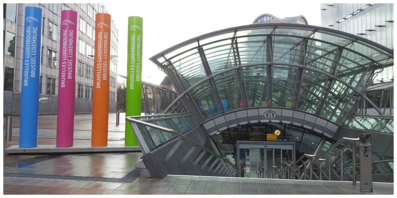 België Brussel tussen station Brussel-Luxemburg & Brussel Centraal