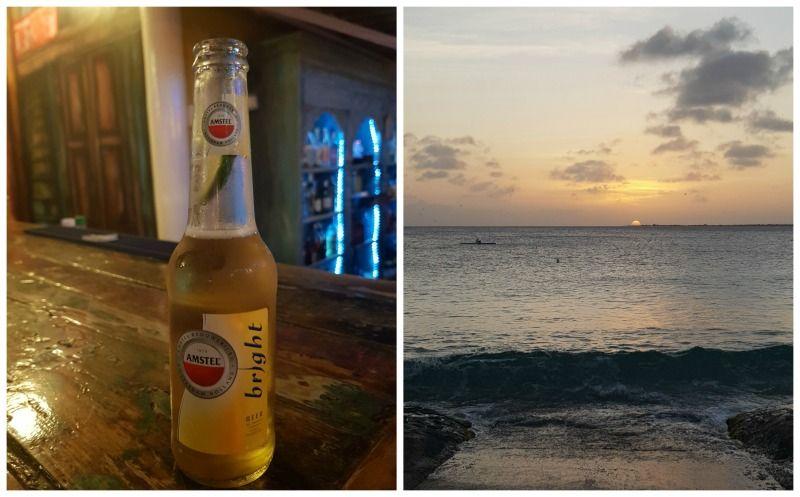 Bonaire zonsondergang Amstel Bright