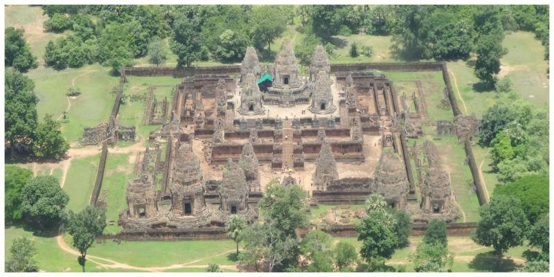 Cambodja Thailand reis Siemreap Angkor helikopter