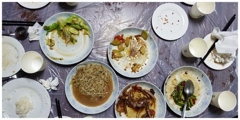 Hutong fiets maaltijd