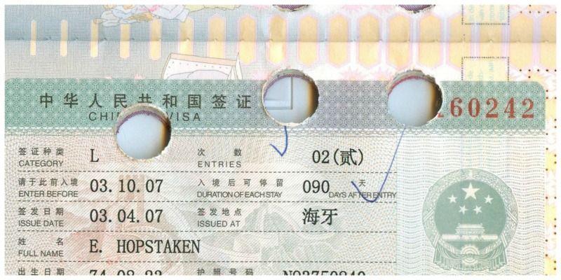 shenyang reisleed visumaanvraag