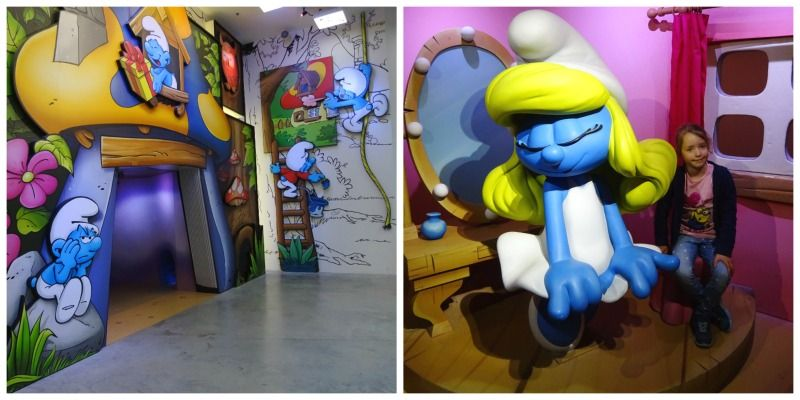 Comics station Antwerpen Smurfen