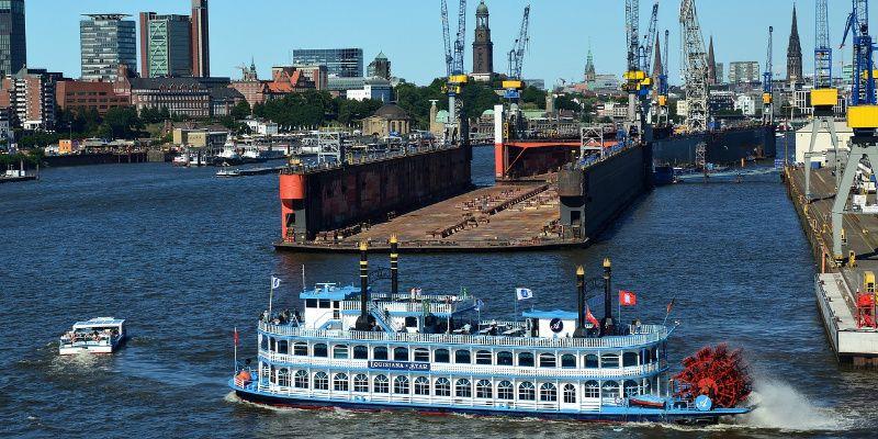 Duitse stedentrip met de kids Hamburg haven Elbe Duitsland