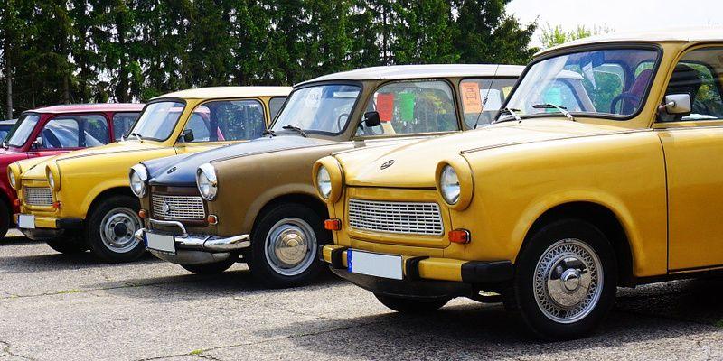 Duitsland Berlijn Trabant Trabi safari