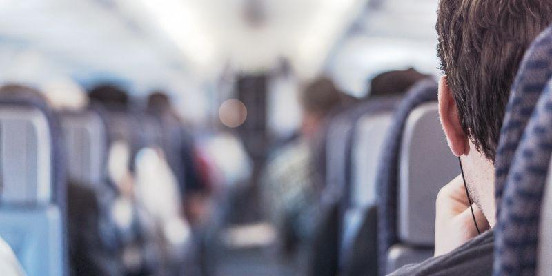 sokken in het vliegtuig