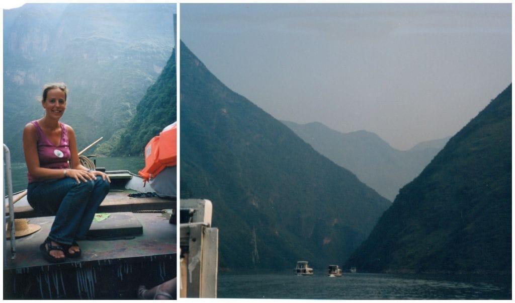 Langs de oevers van de Yangtze China lesser gorges