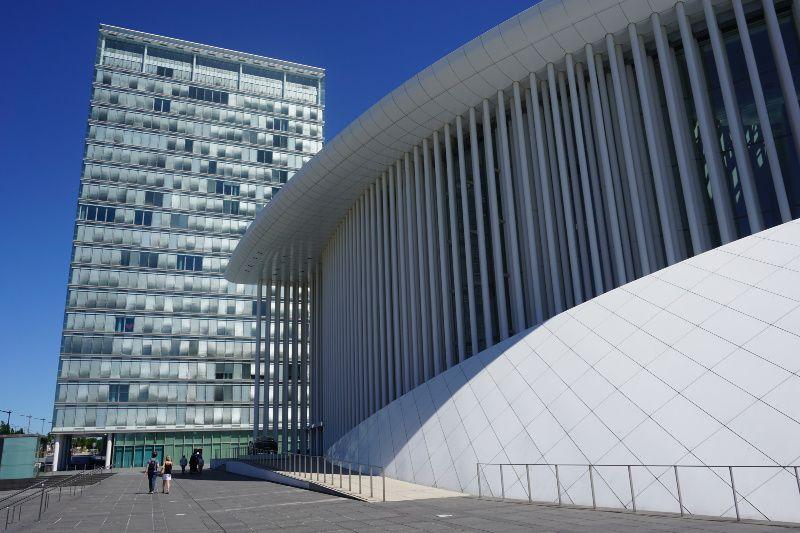 Luxemburg Luxemburg stad in 48 uur Kirchberg Philharmonie hall